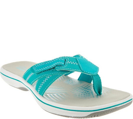 Clarks Adjustable Sport Thong Sandals - Brinkley Calm
