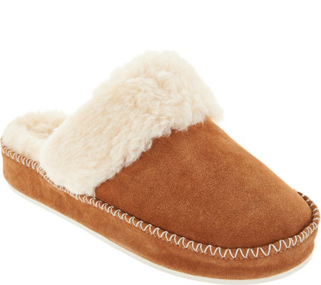 Vionic Suede Slippers - Marley
