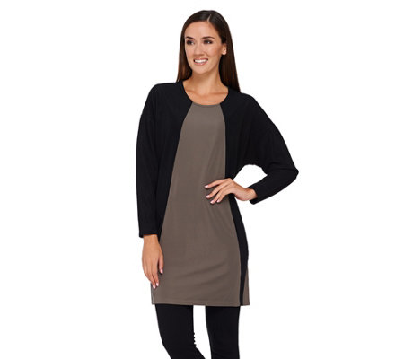 """As Is"" GK George Kotsiopoulos 3/4Sleeve Color Block Tunic"