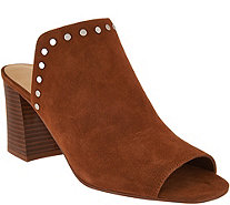 Marc Fisher Leather or Suede Studded Mules - Dalilah - A295017