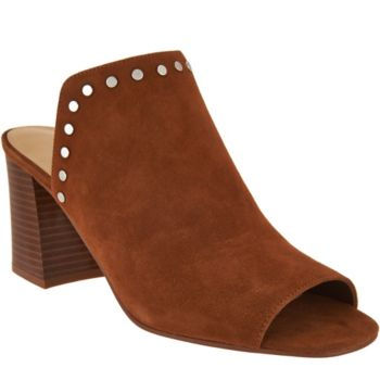 Marc Fisher Leather or Suede Studded Mules - Dalilah