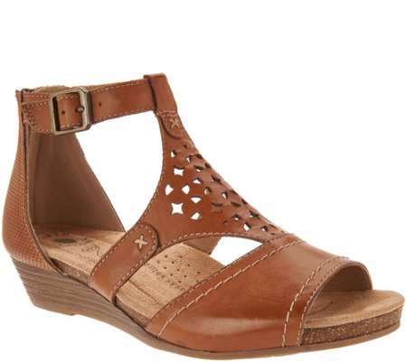 Earth Origins Leather Cut-out Wedges - Hermia