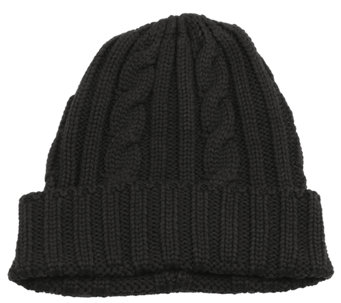 MUK LUKS Men's Knit Cable Cuff Hat - A334717