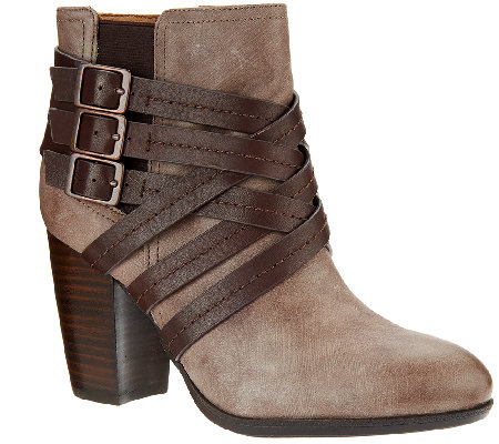 Sofft Leather Ankle Boots - Arminda