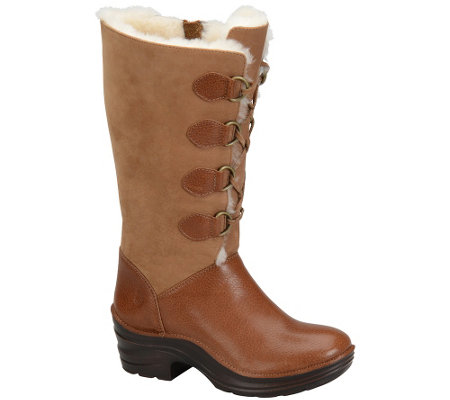 Bionica Leather Lace-up Winter Boots - Roxen