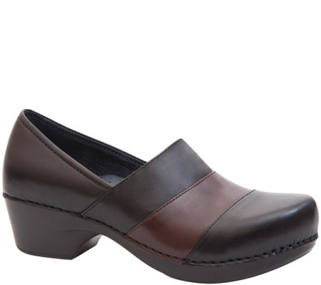 Dansko Closed Back Leather Clogs - Tenley