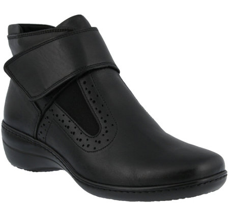 Spring Step Leather Booties - Katri