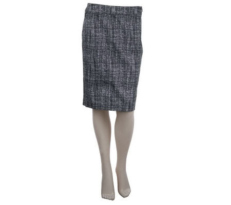 Kelly by Clinton Kelly Printed Pencil Skirt w/Side Zip