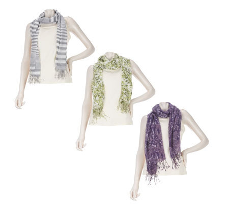 Hummingbird Set of 3 Fashion Scarves