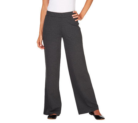 Liz Claiborne New York Hepburn Wide Leg Ponte Trousers
