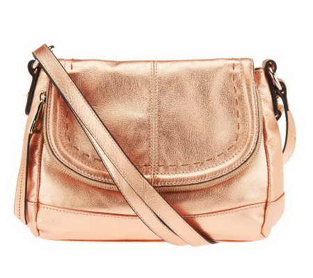 B. Makowsky Laurel Glove Leather Flap Top Crossbody Bag