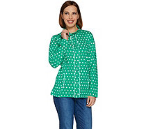 Quacker Factory Polka Dot Long Sleeve Jacket - A239918