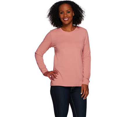 Denim & Co. Essentials Long Sleeve Pull-over Knit Top