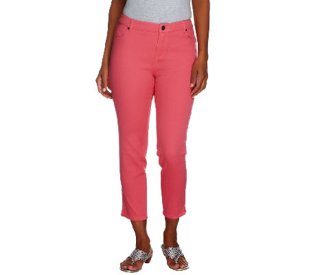 Lisa Rinna Collection Capri Jeans with Side Vents