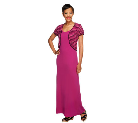 Liz Claiborne New York Petite Knit Maxi Dress w/ Shrug