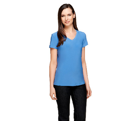 Linea by Louis Dell'Olio V-neck Knit T-shirt