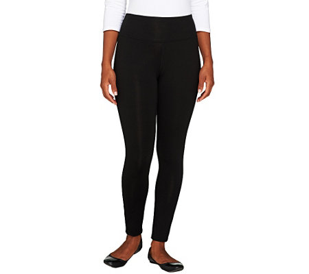 Denim & Co. Active Petite Duo-Stretch Pull-On Leggings