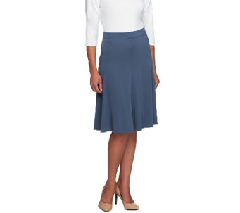 """As Is"" Susan Graver Premier Knit Slim Gored Skirt w/Elastic Waistband - A264518"