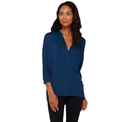 Lisa Rinna Collection Dolman 3/4 Sleeve Knit Top