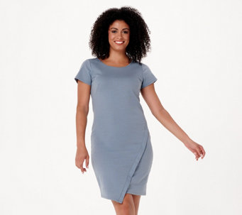 Lisa Rinna Collection Cap Sleeve Ponte Knit Dress - A277018