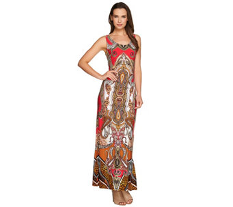 Attitudes by Renee Regular Printed Knit Maxi Dress - A277518
