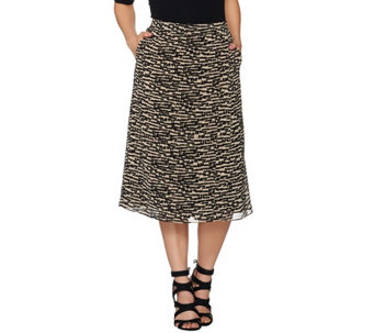 Linea by Louis Dell'Olio Pull-On Printed Skort - A279518
