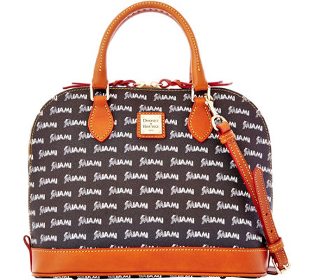 Dooney & Bourke MLB Marlins Zip Zip Satchel