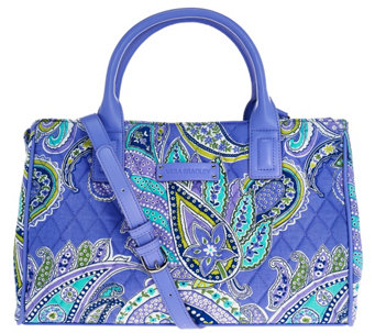 """As Is"" Vera Bradley Signature Print Compartment Satchel - A282418"