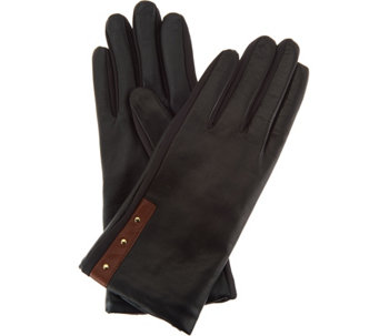 Fownes Brothers Legacy Leather Gloves with Stud Detail - A282618