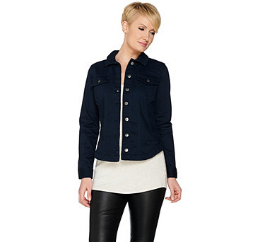 Women with Control Woven Twill Jacket - A287118