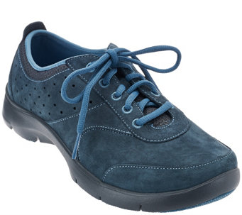 """As Is"" Dansko Suede Stain Resistant Lace-up Sneaker Elain - A288418"
