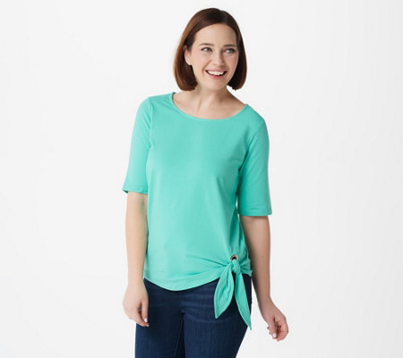 Belle by Kim Gravel Grommet Side Tie T-shirt