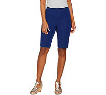 Isaac Mizrahi Live! 24/7 Stretch Pull-On Bermuda Shorts - A289618