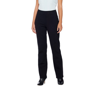 """As Is"" Linea by Louis Dell'olio Pull-on Ponte Knit Pants - A292218"