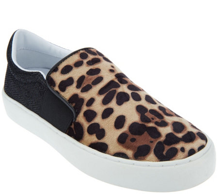 Marc Fisher Leopard or Velvet Slip-On Shoes - Calie