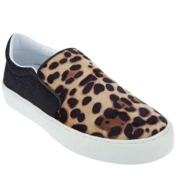 Marc Fisher Leopard or Velvet Slip-On Shoes - Calie