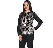 Bob Mackie's Sequin Front Knit Zip Front Jacket - A296418