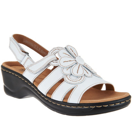 Quot As Is Quot Clarks Leather Lightweight Sandals Lexi Venice