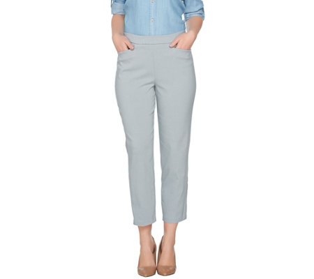 """As Is"" Susan Graver Petite Ultra Stretch Pull-On Crop Pants"