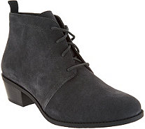 Vionic Orthotic Suede Lace-up Ankle Boots - Andi - A298118