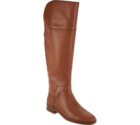 Franco Sarto Leather Tall Shaft Boots - Roxanna