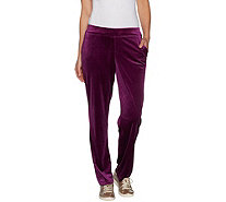 Belle by Kim Gravel Velvet Pull-On Pant - A299318