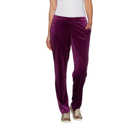Belle by Kim Gravel Velvet Pull-On Pant