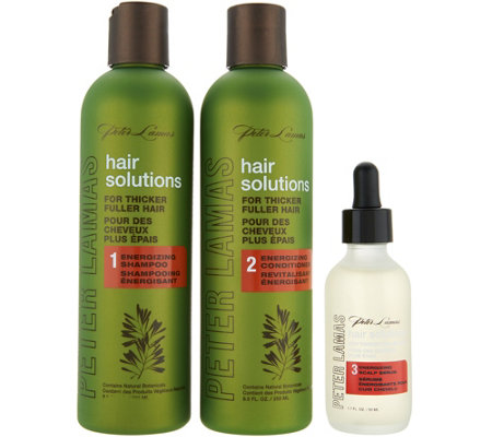 Peter Lamas Hair Solutions 3-Piece Shampoo & Conditioner w/ Scalp Serum