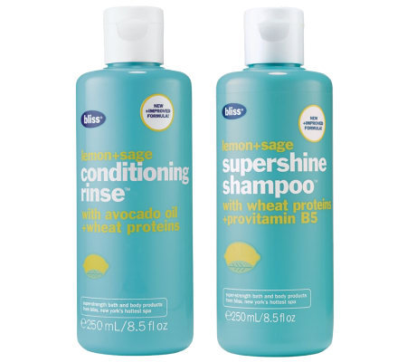 bliss Lemon+Sage Supershine Shampoo & Conditioning Rinse