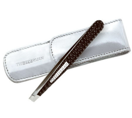 Tweezerman Luxe Edition Crystal Slant Tweezers