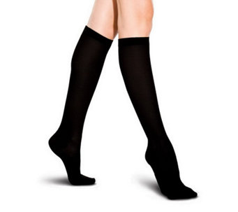 Preggers Ribbed Trouser Socks with Light Gradient Compression - A324118