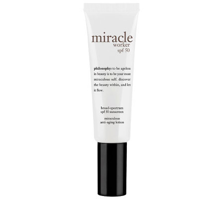 philosophy miracle worker spf 50 sunscreen anti-aging lotion