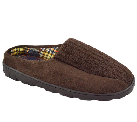 MUK LUKS Men's Ribbed Scuff Slippers