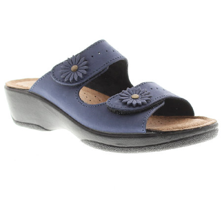 Flexus by Spring Step Faithful Leather Slide Sandals